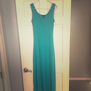 Teal Cotton Maxi Dress